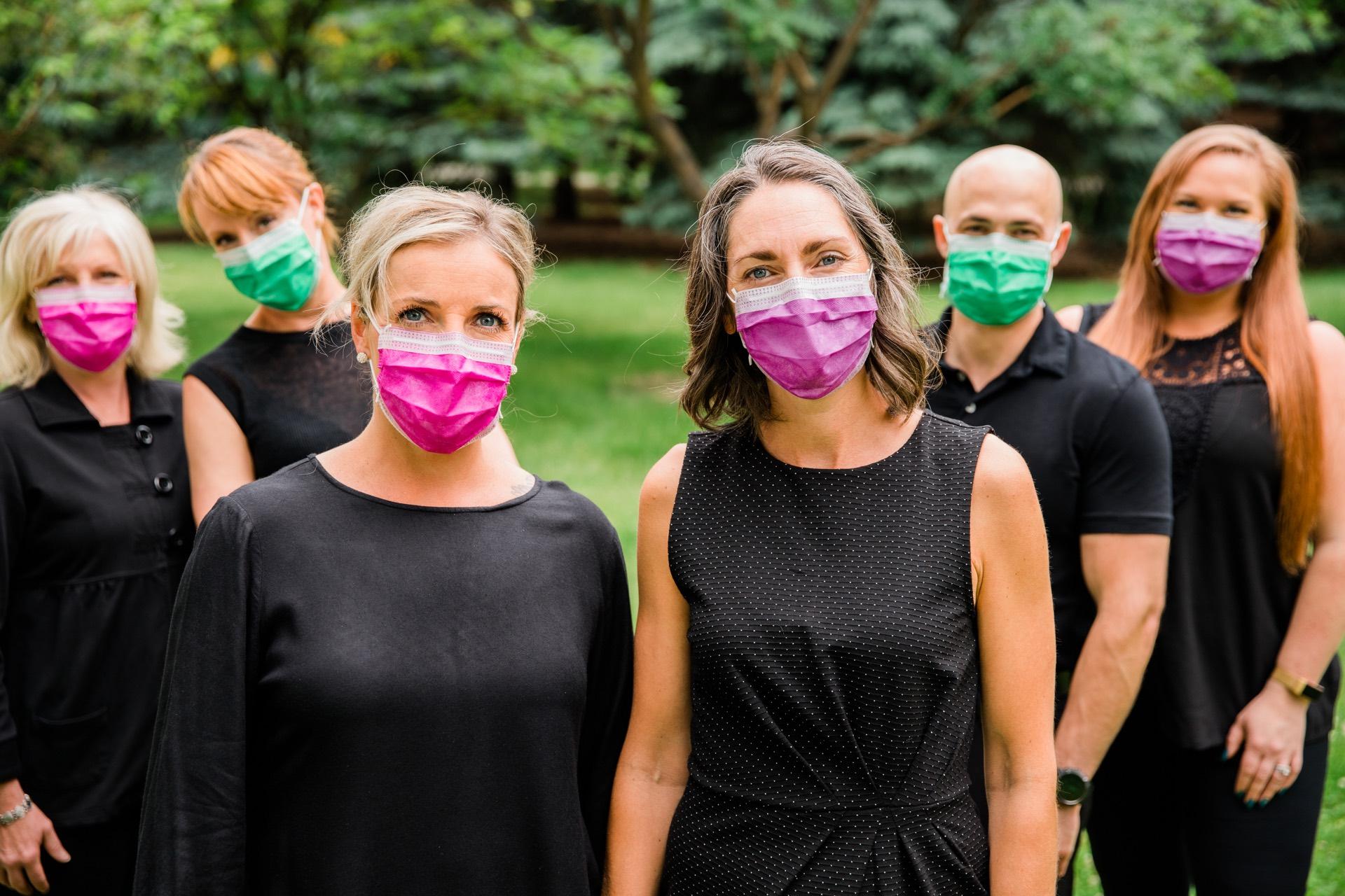 ECPD Team with Mask | Dentist Downtown Calgary | Eau Claire Park Dental