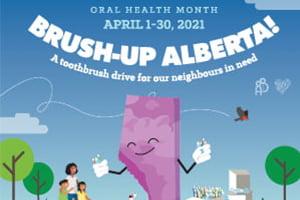 Kids with brush illustration | Dentist Downtown Calgary | Eau Claire Park Dental